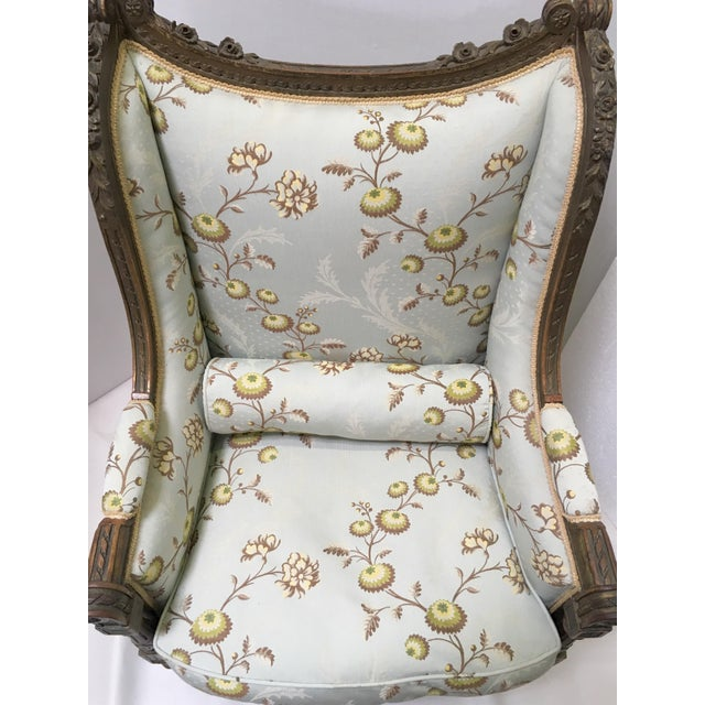 Antique French Wingback Chair - Image 3 of 9