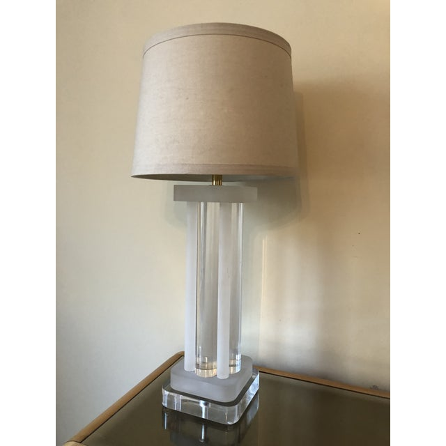 Bring on the drama! This lamp is a mix of clear and frosted acrylic goodness. Very thick and heavy with great presence. In...