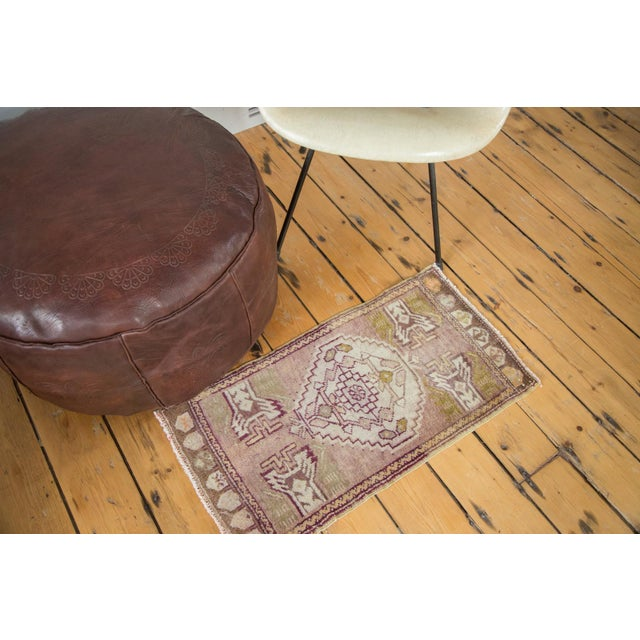 Mauve and Tan Vintage Oushak Rug - 1′5″ × 2′8″ - Image 2 of 6