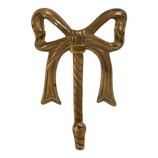 Vintage Brass Bow Hook For Sale