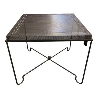 1950s Mathieu Matégot Metal Tropique Square Table For Sale