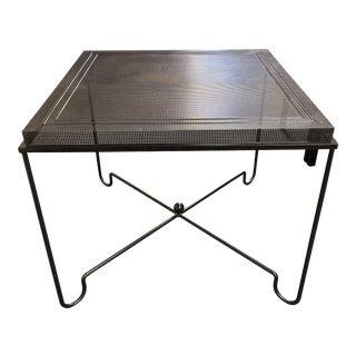 1950s Mathieu Matégot Metal Tropique Square Table For Sale