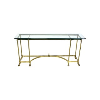 Italian Brass Hoof Foot Console For Sale