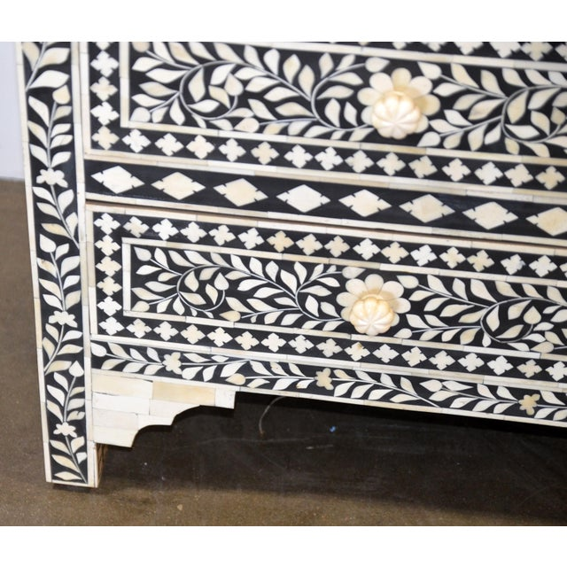 Moroccan Inspired Bone Inlay Dresser For Sale - Image 4 of 7
