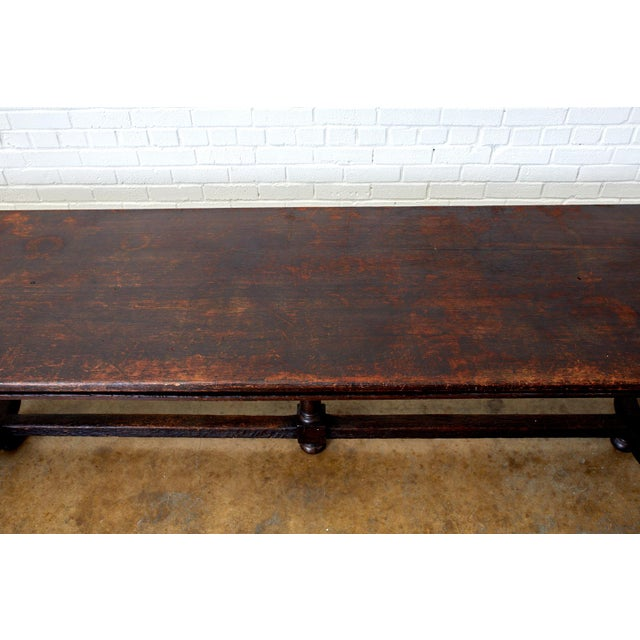19th Century 19th Century English Oak Refectory Dining Banquet Table For Sale - Image 5 of 13