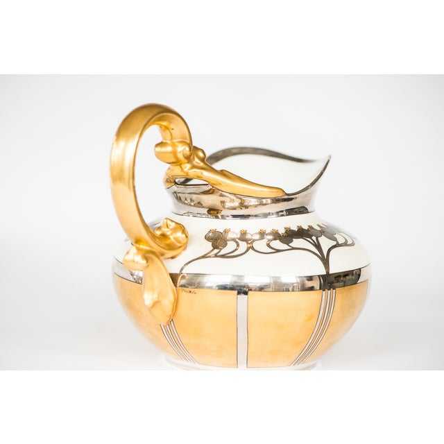 Pickard Aura Argenta Linear Signed Pitcher - Image 4 of 8