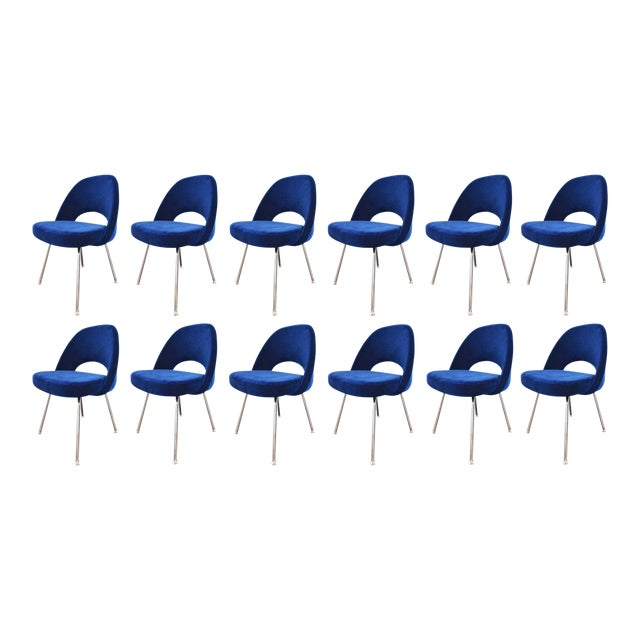 We have up to 12 available in this navy mohair, but this listing is only for 1 chair.