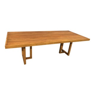 Hickory White Cherry Casual Leg Dining Table For Sale
