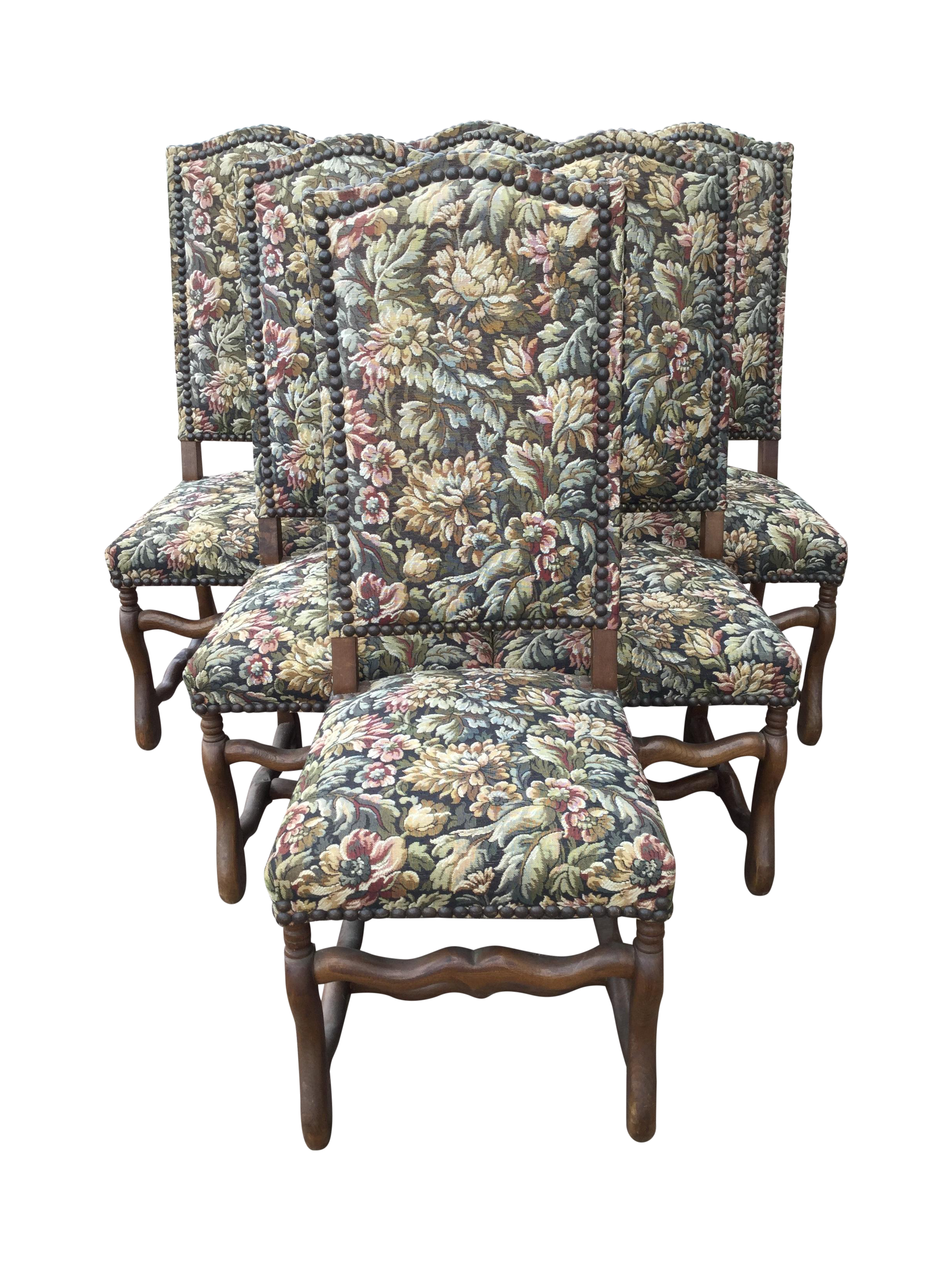 Charmant French Renaissance Dining Chairs   Set Of 6
