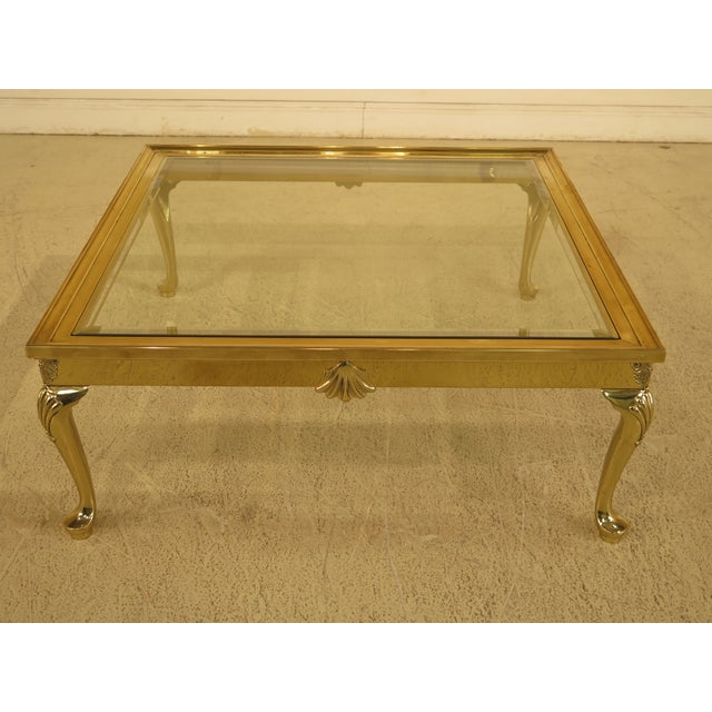 LaBarge Brass & Glass Coffee or Cocktail Table For Sale - Image 13 of 13
