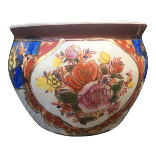 Vintage Floral Design Planter Pot