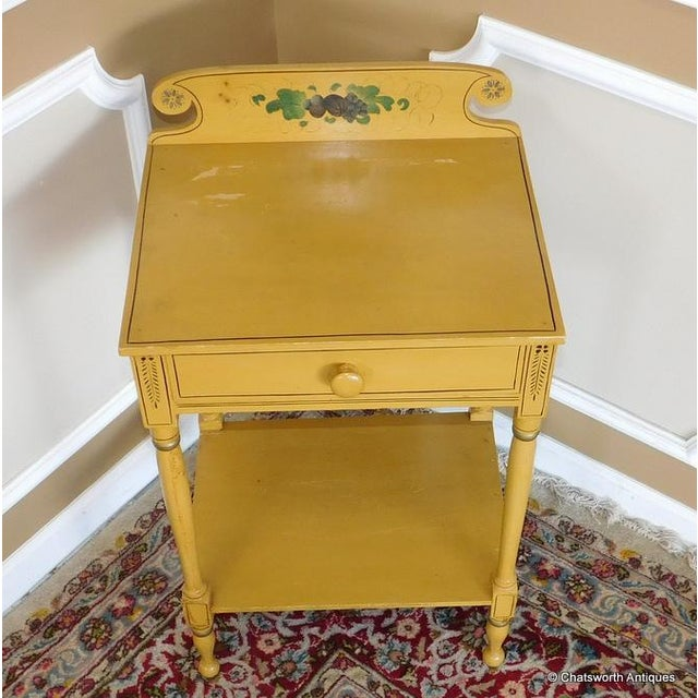 Sheraton 19 C. Painted Country Washstand Table For Sale - Image 7 of 9
