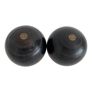 1924 Jaques & Son London Lawn Bowling Balls - a Pair For Sale