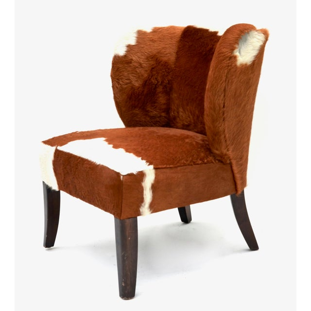 Vintage Cowhide Chair For Sale - Image 9 of 9