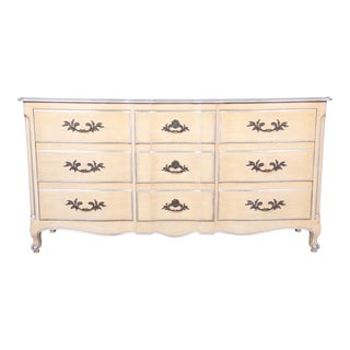 John Widdicomb French Provincial Louis XV Style Long Dresser or Credenza For Sale