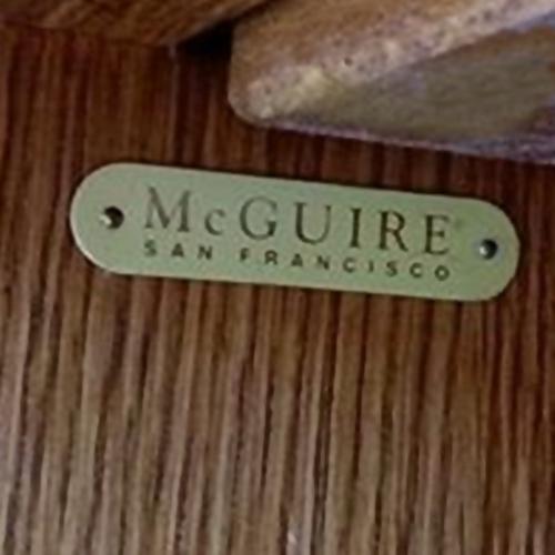 Vintage McGuire Rattan Drop Leaf Dry Bar/Bar Cart For Sale - Image 9 of 10