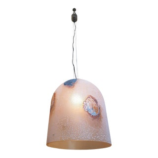 A. Barbini Stamped Mid-Century Modern Murano Glass Pendant Light For Sale