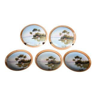 Mid 20th Century Japanese Ceramic Plates - Set of 5 For Sale
