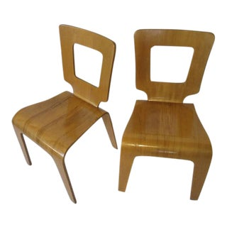 Thaden Jordan Eames Styled Molded Plywood Side Chairs - a pair For Sale