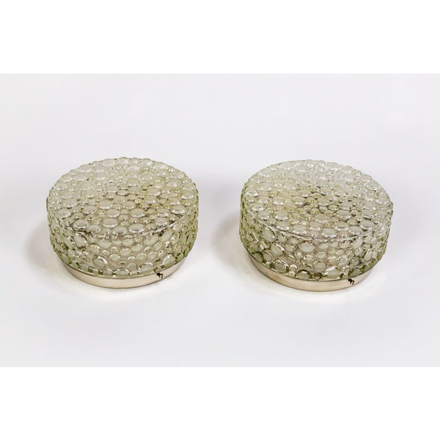 Metal Helena Tynell Design Buffed Revisited Flush Mounts - a Pair For Sale - Image 7 of 11