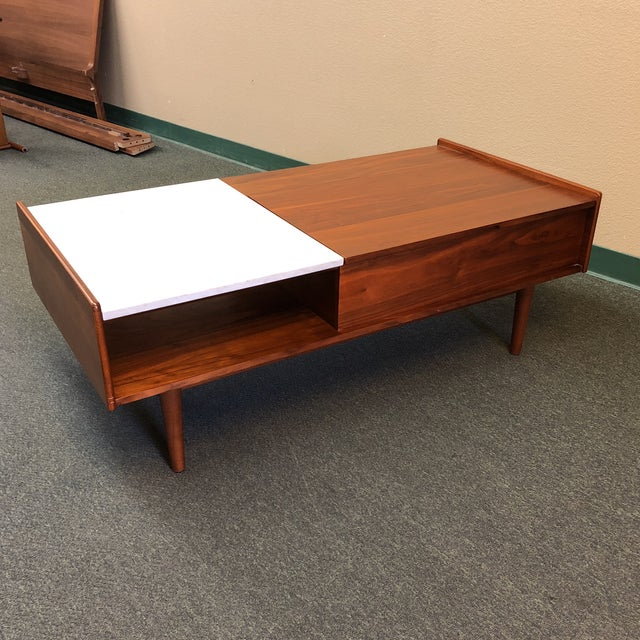 West Elm MidCentury Style Pop Up Coffee Table Chairish - West elm pop up coffee table