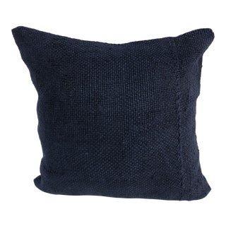Turkish Blue Handmade Living Room Kilim Pillow Cover For Sale