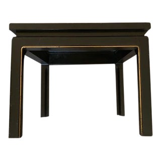 20th Century Asian Hand Painted Square Accent Table For Sale