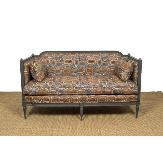 Antique French Upholstered Settee For Sale In New Orleans - Image 6 of 6