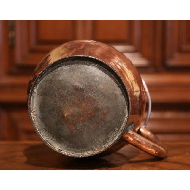 19th Century French Polished Copper and Iron Decorative Coal Bucket For Sale - Image 9 of 10
