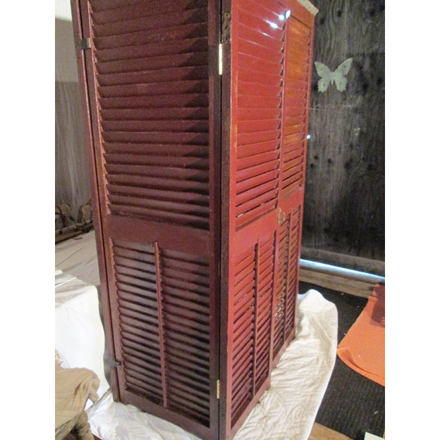 Upcycled Shutter Armoire - Image 3 of 7