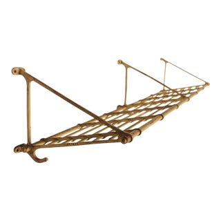 Antique Rail Road Car Luggage & Coat Rack