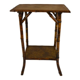 19th-Century Bamboo Rectangular Table For Sale