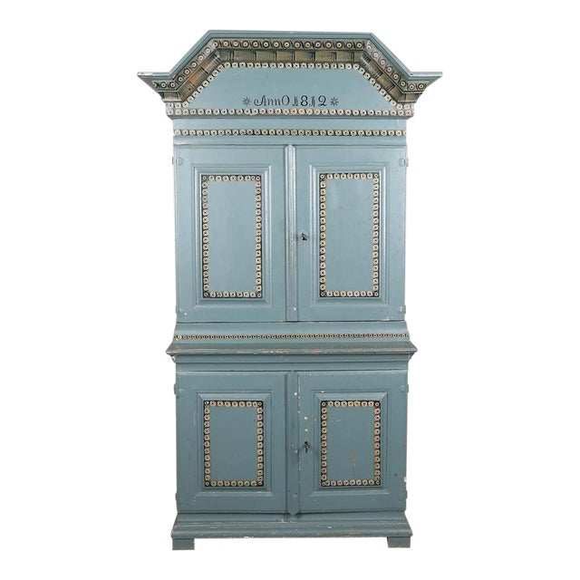 Swedish Antique Cabinet Anno 1812 For Sale