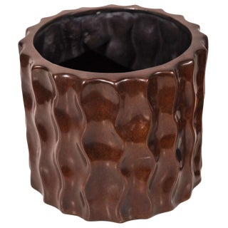 Bronze, Round, Wavy Planter For Sale