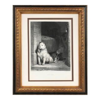 """Low Life"" Sir Edwin Henry Landseer Victorian Dog Engraving C.1880 For Sale"