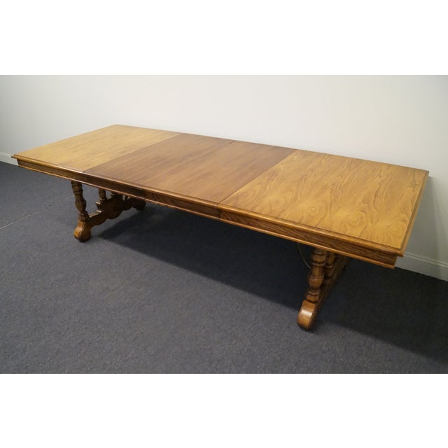 Wood 20th Century Spanish Revival Thomasville Segovia Dining Table For Sale - Image 7 of 11