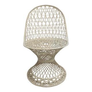 1970s Vintage Russell Woodard Spun Fiberglass Patio Side Chair For Sale