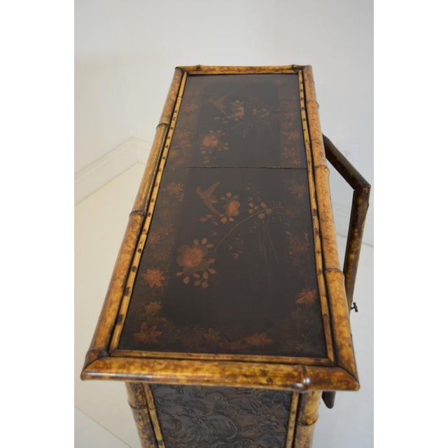 19th-Century Bamboo/Chinioserie Bookcase For Sale - Image 4 of 8