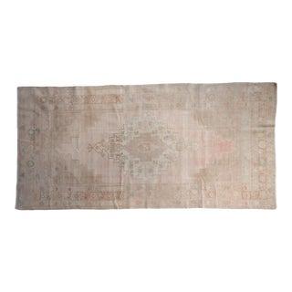 """Vintage Distressed Oushak Rug Runner - 4'6"""" X 9'2"""" For Sale"""