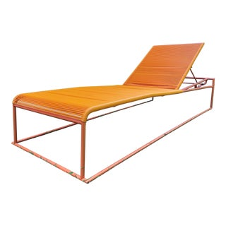 Mid Century Modern Outdoor Spaghetti Chaise Lounge Design by Giandomenico Belotti For Sale