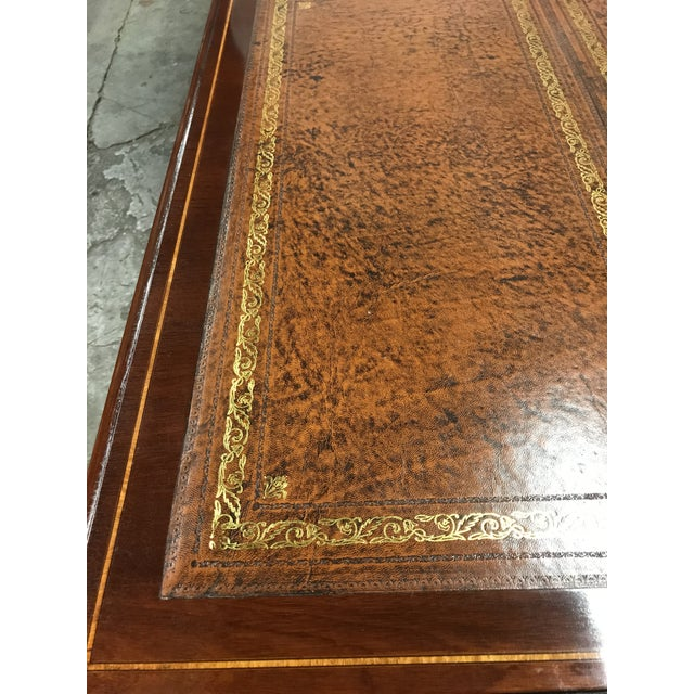 English Custom Made Executive Desk For Sale - Image 4 of 10