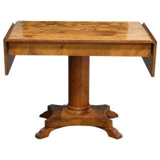 Swedish Karl Johan (Biedermeier), Drop-Leaf Center Table For Sale