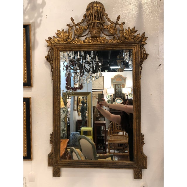 Gilt Mirror With Balloon Basket Frieze For Sale - Image 13 of 13