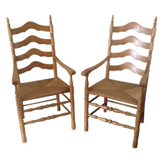 Vintage Country King Tall Chairs - A Pair For Sale