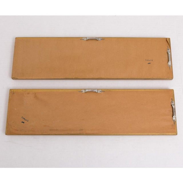 Narrow Gold Wall Mirrors - a Pair For Sale - Image 4 of 6
