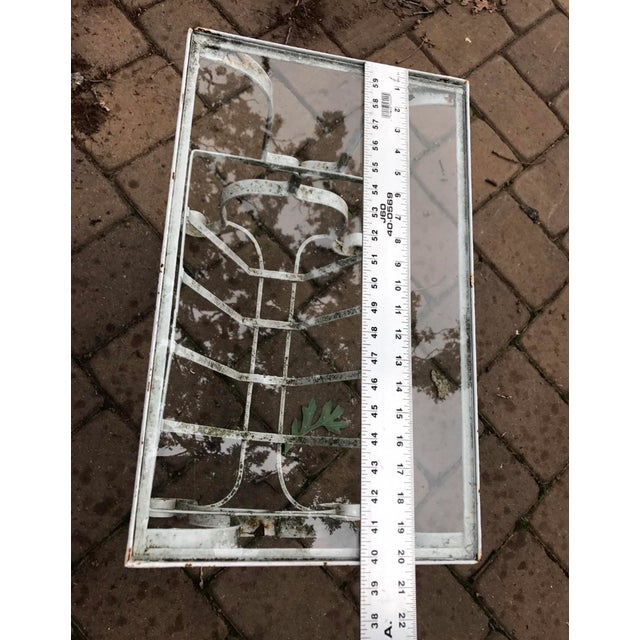 Salterini Style Outdoor Wrought Iron Side Table - Image 6 of 9