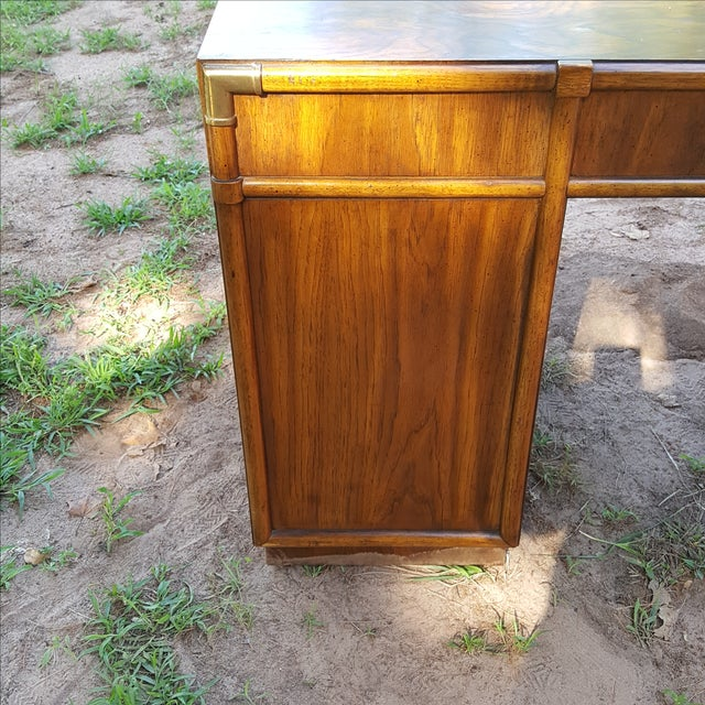 1960s Drexel Campaign Style Desk - Image 9 of 10
