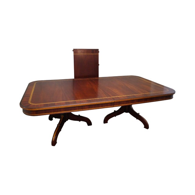 Alfonso Marina Hand Crafted Mahogany Inlaid Table - Image 1 of 10