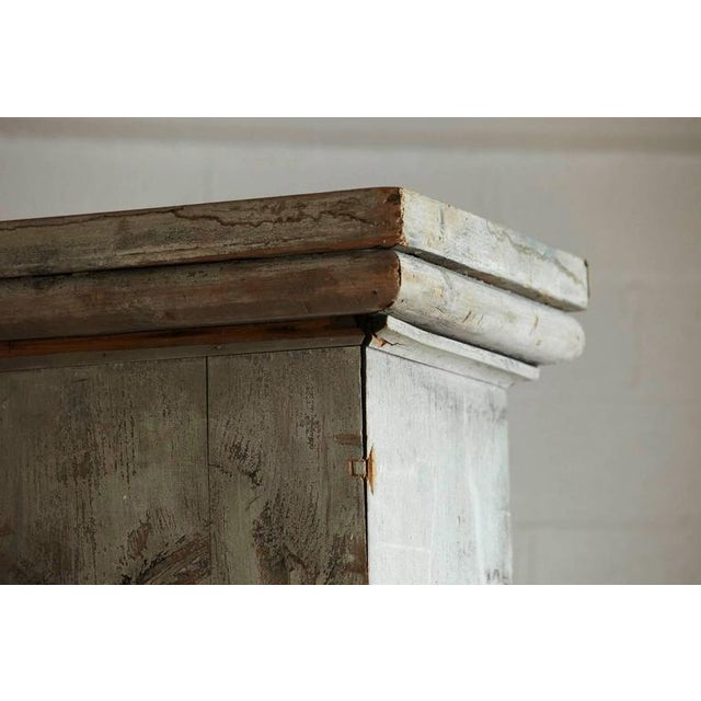 Wood Distressed Tall Wooden Architectural Column with Patina For Sale - Image 7 of 9