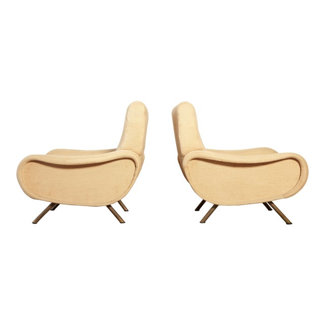 Original Marco Zanuso Lady Chairs, Arflex, Italy, 1960s for Reupholstery For Sale